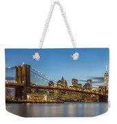 New York Skyline - Brooklyn Bridge Weekender Tote Bag