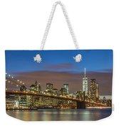 New York Skyline - Brooklyn Bridge Panorama - 2 Weekender Tote Bag