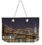 New York Skyline - Brooklyn Bridge Panorama - 3 Weekender Tote Bag