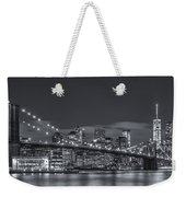 New York Skyline - Brooklyn Bridge Panorama - 4 Weekender Tote Bag