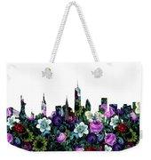 New York Skyline Floral 3 Weekender Tote Bag