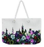 New York Skyline Floral 4 Weekender Tote Bag