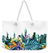 New York Skyline Floral  6 Weekender Tote Bag