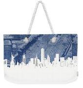New York Skyline Map 2 Weekender Tote Bag