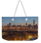 New York Skyline - Queensboro Bridge Weekender Tote Bag
