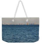 New York Skyline Weekender Tote Bag by Robbie Masso