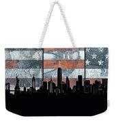 New York Skyline Usa Flag 5 Weekender Tote Bag