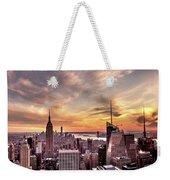 New York Sunset Weekender Tote Bag
