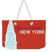 New York Vertical Scene - Chrysler Building Weekender Tote Bag