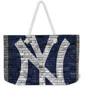 New York Yankees Brick Wall Weekender Tote Bag