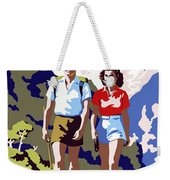 New Zealand Vintage Travel Poster Restored Weekender Tote Bag