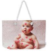 Newborn Baby Gir Filled Kisses Weekender Tote Bag