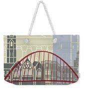 Newcastle Skyline Poster Weekender Tote Bag