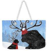 Newfie Reindeer Weekender Tote Bag