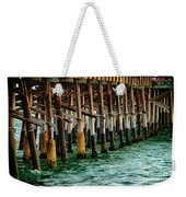 Newport Beach Pier Close Up Weekender Tote Bag