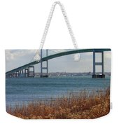 Newport Bridge Newport Rhode Island Weekender Tote Bag