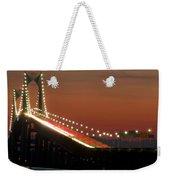 Newport Bridge Twilight Weekender Tote Bag
