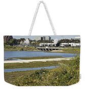 Newport Estuary And Nearby Businesses Weekender Tote Bag