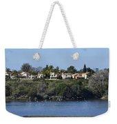 Newport Estuary Looking Across At Homes I Weekender Tote Bag