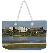 Newport Estuary Looking Across At Major Hotel And Businesses Weekender Tote Bag