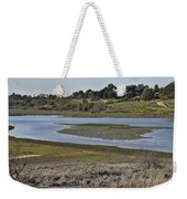 Newport Estuary Looking Across At Visitors Center  Weekender Tote Bag
