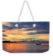 Newport Gold Weekender Tote Bag by Joann Vitali