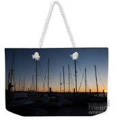 Newport Harbor Rhode Island Boats At Sunset Weekender Tote Bag