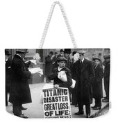 Newsboy Ned Parfett Announcing The Sinking Of The Titanic Weekender Tote Bag by English School