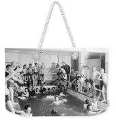 Newsboys Swimming 1900s Weekender Tote Bag