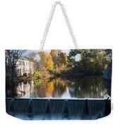 Newton Upper Falls Autumn Waterfall Reflection Weekender Tote Bag