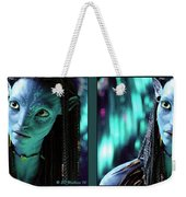 Neytiri - Gently Cross Your Eyes And Focus On The Middle Image Weekender Tote Bag