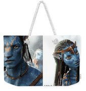 Neytiri And Jake - Gently Cross Your Eyes And Focus On The Middle Image Weekender Tote Bag
