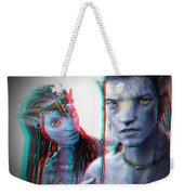 Neytiri And Jake Sully - Use Red-cyan 3d Glasses Weekender Tote Bag