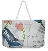 Nfl Cowboys Stiletto Weekender Tote Bag