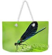 Beautiful Demoiselle Damselfly Weekender Tote Bag