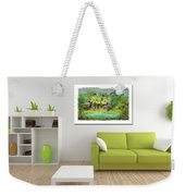 Home Decor With Tropical Palms Digital Painting Weekender Tote Bag