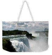 Niagara Falls American And Canadian Horseshoe Falls Weekender Tote Bag