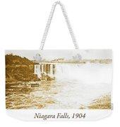 Niagara Falls Ferry Boat, 1904, Vintage Photograph Weekender Tote Bag