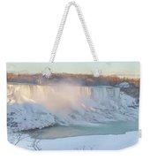 Niagara Falls In Wintertime Weekender Tote Bag