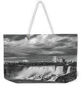 Niagara Falls - The American Side 3 Bw Weekender Tote Bag