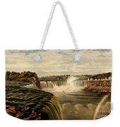 Niagara Falls With Rainbow, 1860 Weekender Tote Bag