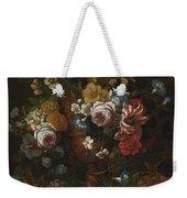 Nicolaes Van Veerendael Antwerp 1640 - 1691 Still Life Of Roses, Carnations And Other Flowers Weekender Tote Bag