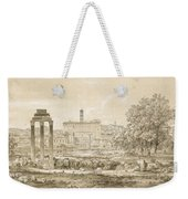 Nicolas-didier Boguet   1755 - 1839   View Of The Roman Forum With The Temple Of Castor Weekender Tote Bag
