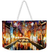 Night Amsterdam Weekender Tote Bag