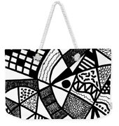Black And White 20/night And Day 1 Weekender Tote Bag