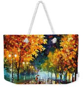 Night Autumn Park  Weekender Tote Bag