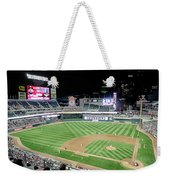 Night Baseball In Minneapolis Weekender Tote Bag