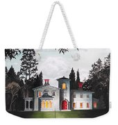 Italian House Country House Detail From Night Bridge  Weekender Tote Bag