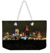 Night Cleveland Weekender Tote Bag