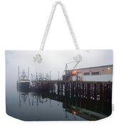 Night Fog Along The Dock Weekender Tote Bag
